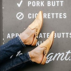 Mi.iM Taylor Pointed Mules Shoes Rose Tan 6.5